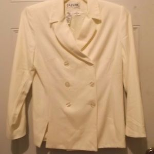 White dress blazer. Lined. Rayon. * NWOT